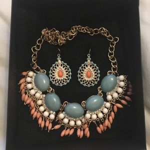 Fashion Jewelry-Statement Necklace with earrings